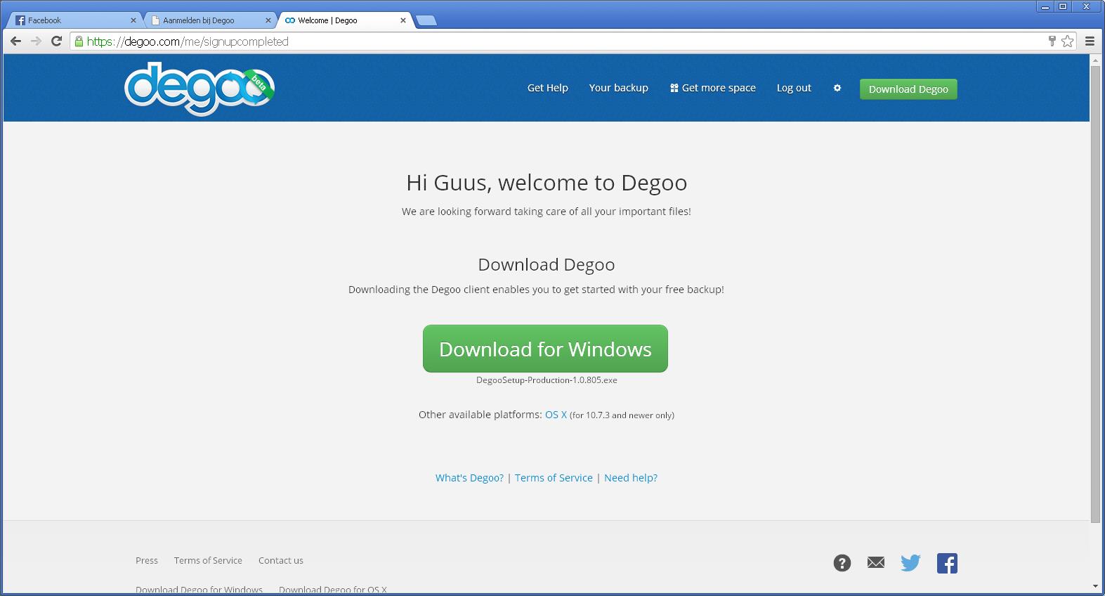 Downloaden Degoo